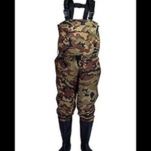 Fishing Chest Wader Camouflage Pants with Boots 12